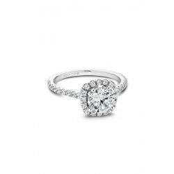 Noam Carver Halo Engagement Ring B007-02WM product image
