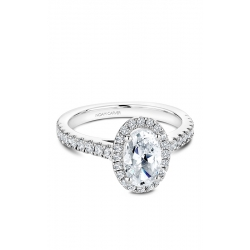 Noam Carver Halo Engagement Ring B034-04WM product image