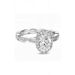 Noam Carver Floral Engagement Ring B085-02WM product image