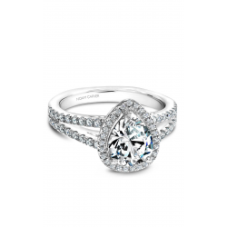 Noam Carver Halo Engagement ring B015-04WS product image