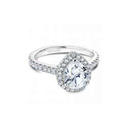 Noam Carver Halo Engagement ring B029-04WS product image