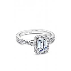 Noam Carver Halo Engagement ring B034-01WS product image