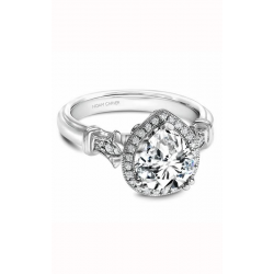 Noam Carver Floral Engagement ring B076-03WS product image