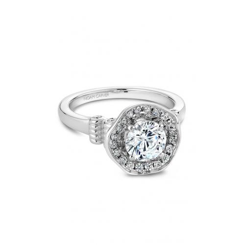 Noam Carver Floral Engagement ring B014-01WM product image