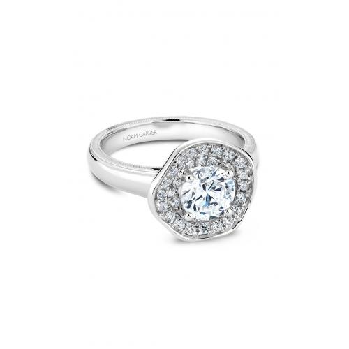 Noam Carver Floral Engagement ring B014-03WM product image