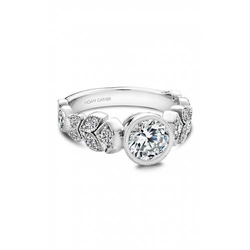 Noam Carver Floral Engagement ring B028-01WM product image