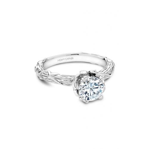Noam Carver Floral Engagement ring B081-01WM product image