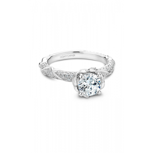 Noam Carver Floral Engagement ring B081-02WM product image