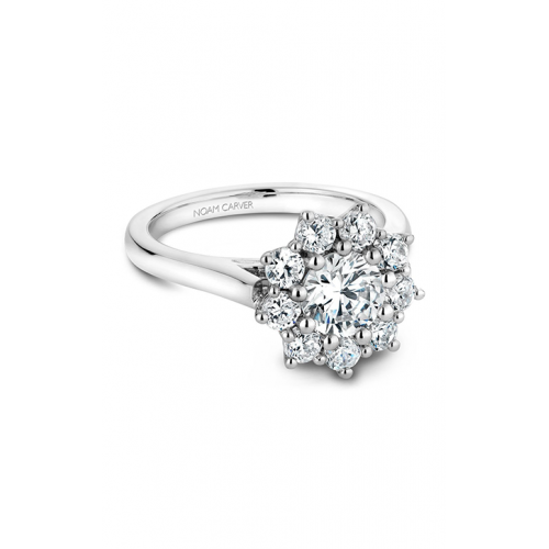 Noam Carver Floral Engagement ring B090-01WM product image