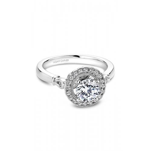 Noam Carver Floral Engagement ring B065-01WM product image