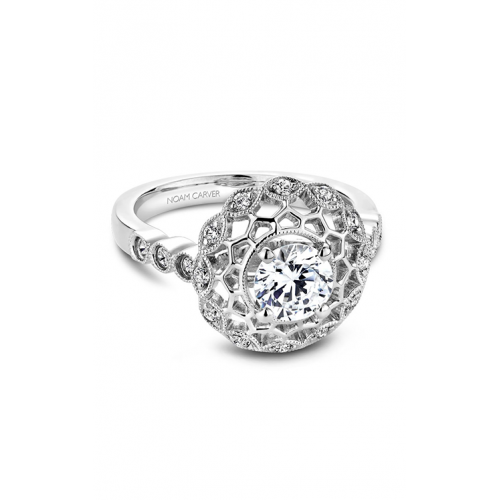 Noam Carver Floral Engagement ring B068-01WM product image