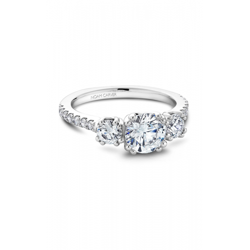 Noam Carver 3 Stone Engagement ring B001-05WM product image