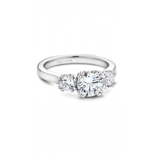 Noam Carver 3 Stone Engagement ring B001-07WM product image