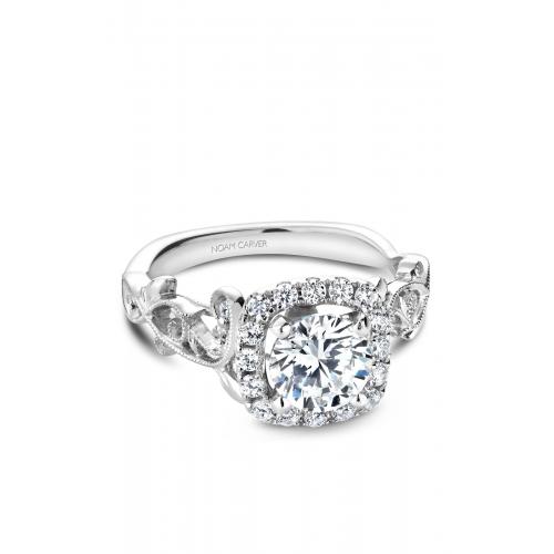 Noam Carver Floral Engagement ring B151-01WM product image