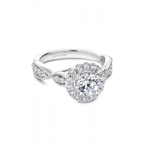 Noam Carver Floral Engagement ring B160-01WM product image