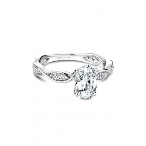 Noam Carver Floral Engagement ring B197-02WM product image