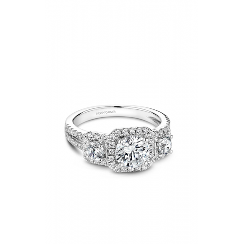 Noam Carver 3 Stone Engagement ring B210-01WM product image