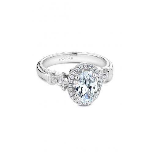 Noam Carver Floral Engagement ring B076-02WM product image