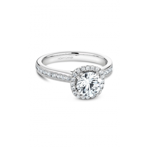 Noam Carver Halo Engagement ring B145-06WM product image