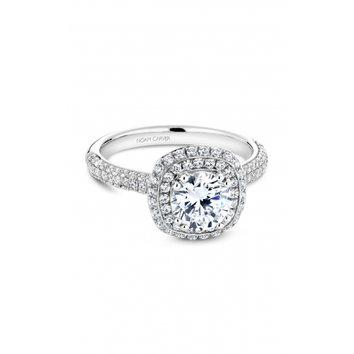Noam Carver Halo Engagement ring B146-10WM product image