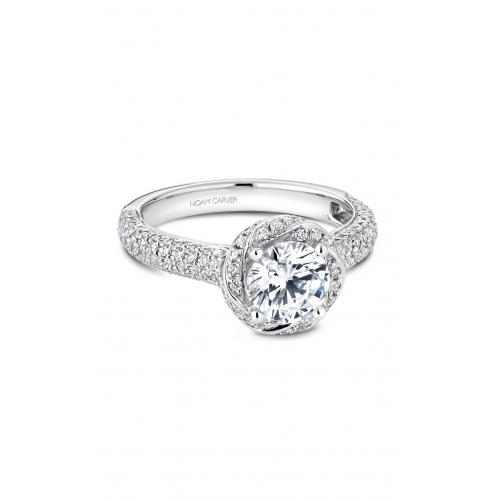 Noam Carver Floral Engagement ring B164-01WM product image