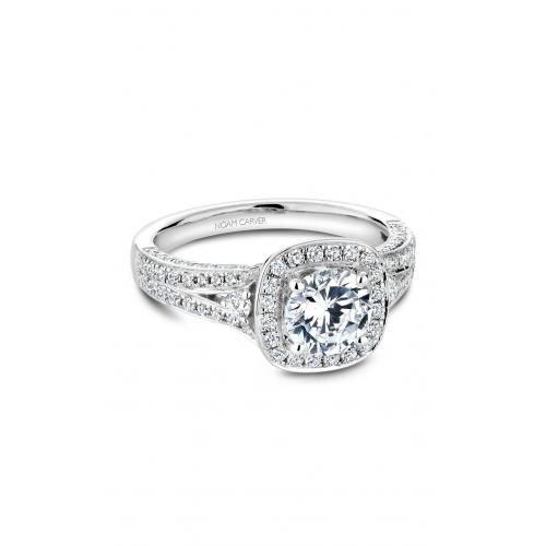 Noam Carver Halo Engagement ring B172-01WM product image