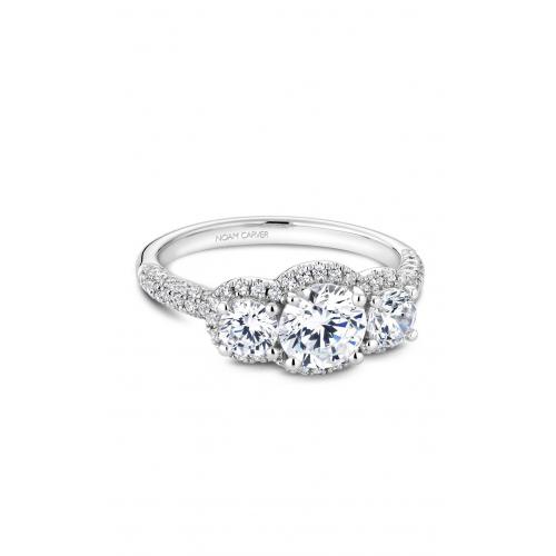 Noam Carver 3 Stone Engagement ring B184-01WM product image