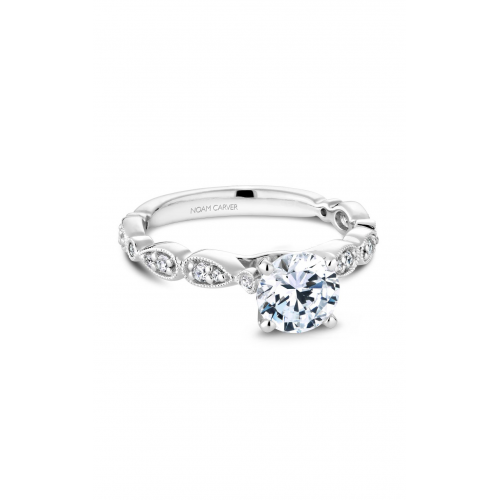 Noam Carver Floral Engagement ring B204-01WM product image