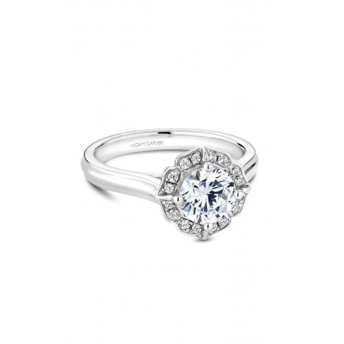 Noam Carver Floral Engagement ring R030-01WM product image