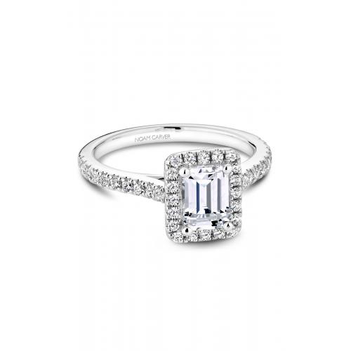 Noam Carver Halo Engagement ring R050-04WM product image