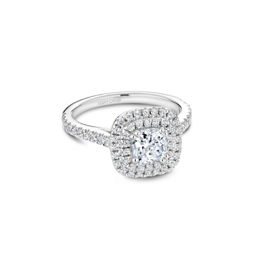Noam Carver Halo Engagement ring R051-05WM product image