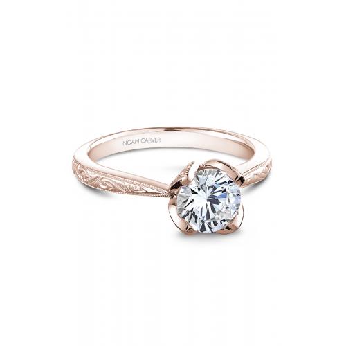 Noam Carver Floral Engagement ring B019-03RME product image