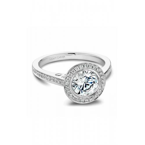 Noam Carver Halo Engagement ring B016-01WM product image