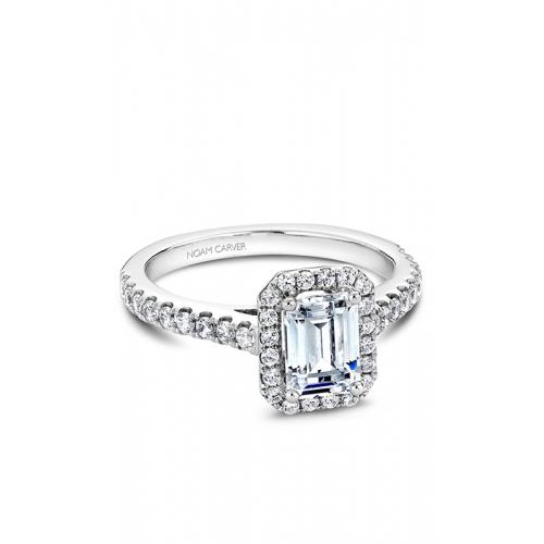 Noam Carver Halo Engagement ring B034-01WM product image