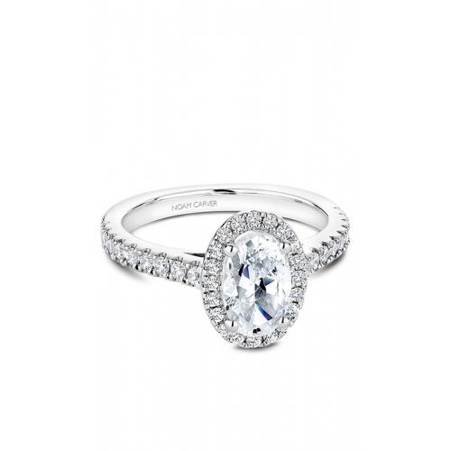 Noam Carver Halo Engagement ring B034-04WM product image