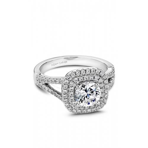 Noam Carver Halo Engagement ring B035-01WM product image