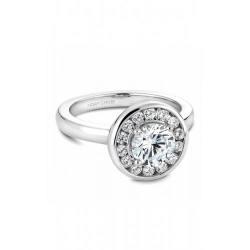 Noam Carver Halo Engagement ring B037-02WM product image