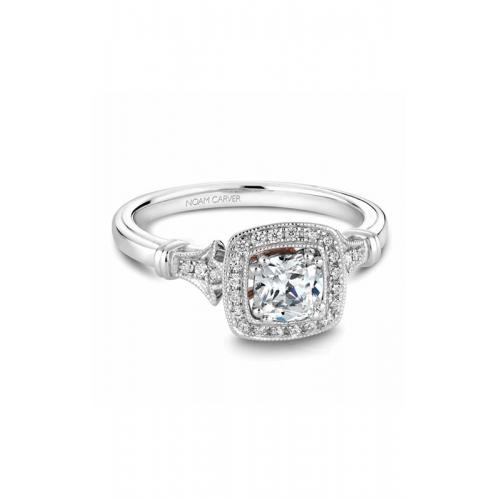 Noam Carver Halo Engagement ring B076-01WM product image