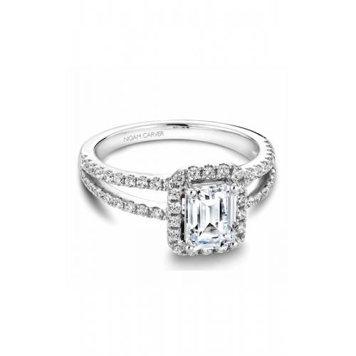 Noam Carver Halo Engagement ring B092-01WM product image