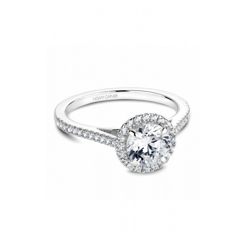 Noam Carver Halo Engagement ring B094-02WM product image