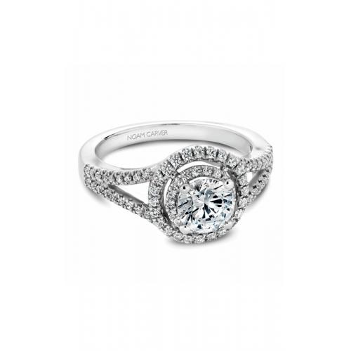Noam Carver Halo Engagement ring B100-01WM product image