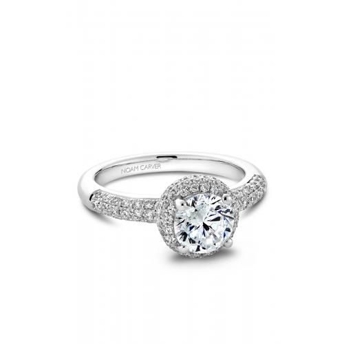 Noam Carver Halo Engagement ring B100-02WM product image