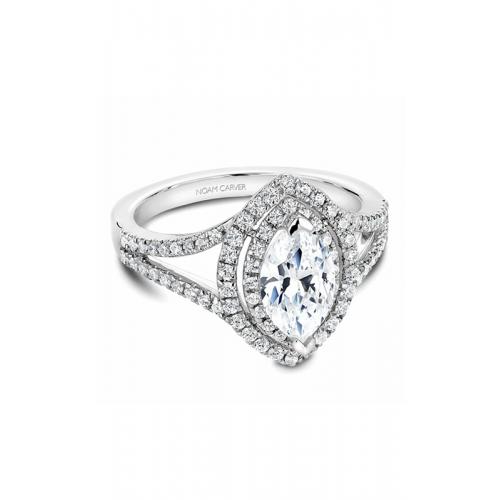 Noam Carver Halo Engagement ring B100-08WM product image