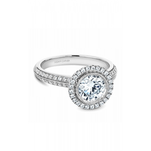 Noam Carver Halo Engagement ring B144-15WM product image