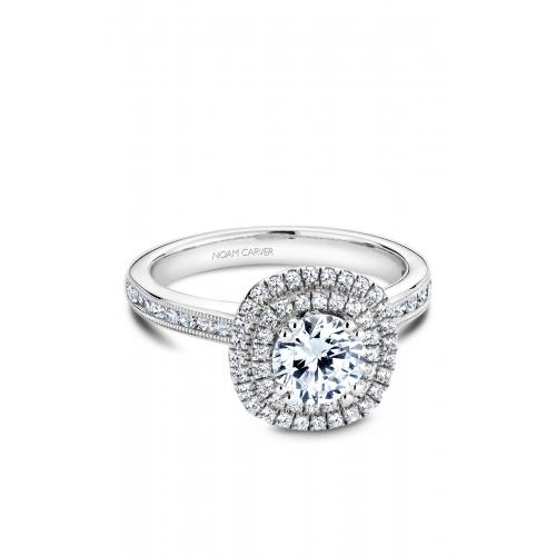 Noam Carver Halo Engagement ring B145-08WM product image