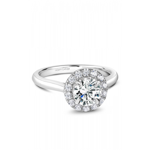 Noam Carver Halo Engagement ring B240-01WS product image