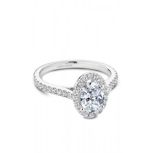 Noam Carver Halo Engagement ring R050-02WM product image