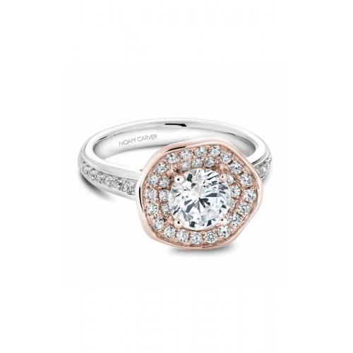 Noam Carver Floral Engagement ring B014-05WRM product image