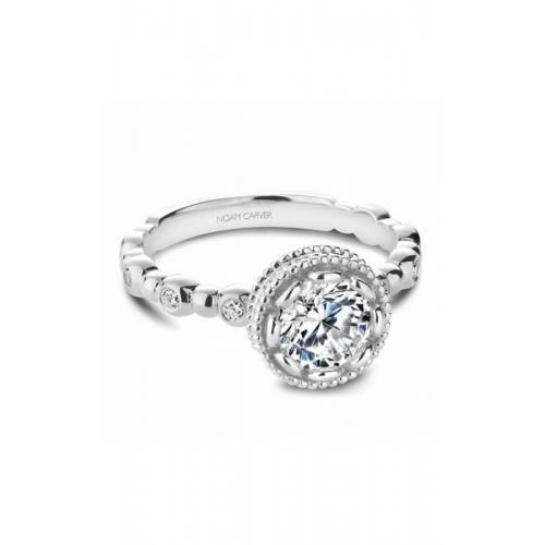 Noam Carver Floral Engagement ring R004-01WM product image