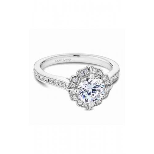 Noam Carver Floral Engagement ring R031-01WM product image